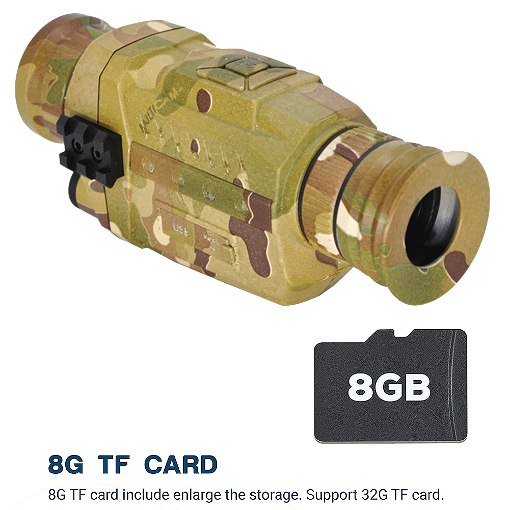 Night Vision Monocular 5X Infrared Digital Camera Video 200m Range Scope for Outdoor Hunting Camping Used To Takes Photos New