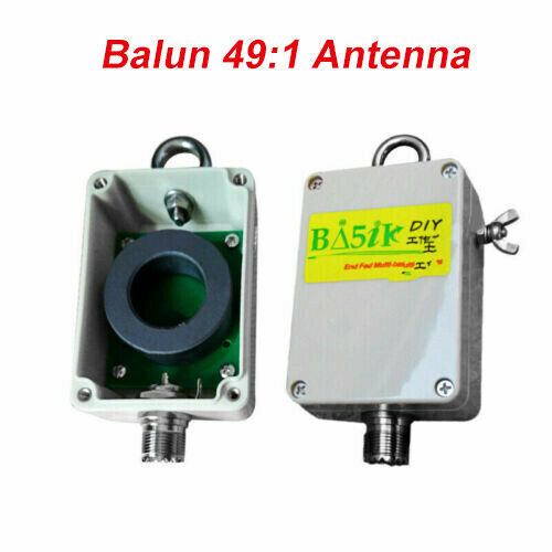 Latest Verison 1:49 - 49:1 Balun For HF Short Wave Four Band  5-35MHZ End Fed Half-Wave EFHW Antenna 100W HAM
