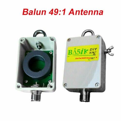Последняя версия verison 1:49-49: 1 балун для HF короткой волны четыре диапазона 5-35 МГц Концевая подача полуволновой антенны EFHW 100 Вт HAM