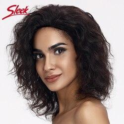 Pelucas de cabello humano con parte frontal de encaje elegante, pelucas de cabello humano ondulado 100%, pelucas de cabello brasileño Remy de 13x4, pelucas cortas de encaje Natural