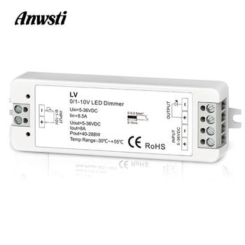 Mini 0 1-10V CV przyciemnianie LED kontroler 1 kanał DC 5V 12V 24V 36V PWM napięcie wyjściowe 8A 288W 1 kanał 0-10V ściemniacz LV tanie i dobre opinie Anwsti ROHS 1CH 0 1-10V CV dimming controller Ściemniacze 5 Years 5-36V DC PWM constant voltage 40-288W -30℃~55℃ 0 1-10V dimming controller
