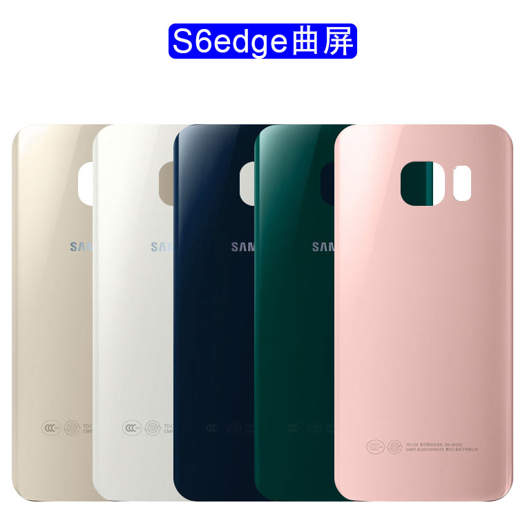 For SAMSUNG Galaxy S6 Edge G925 G925F G925T Back Battery Cover Door Rear Glass Housing Case Replace Battery Cover image