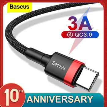 Baseus rodzaj USB C kabel do xiaomi 10 Pro redmi 8 USB C kabel do telefonu komórkowego szybkie ładowanie kabel typu C do rodzaj USB-C urządzeń tanie i dobre opinie TYPE-C NYLON USB A Złącze ze stopu Aluminum Alloy + TPE + High-density Nylon Braided Wire Red Black Gray Black Red 0 5m 1m 5V 3A Max-9V 2A Max 2m 5V 2A Max