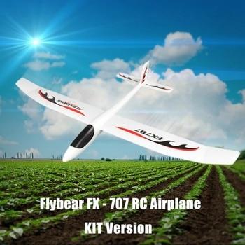 Flybear FX707 ручной метательный RC самолет EPP пена 1200 мм размах крыльев самолет с фиксированным крылом комплект версия для мальчиков DIY на открыто...