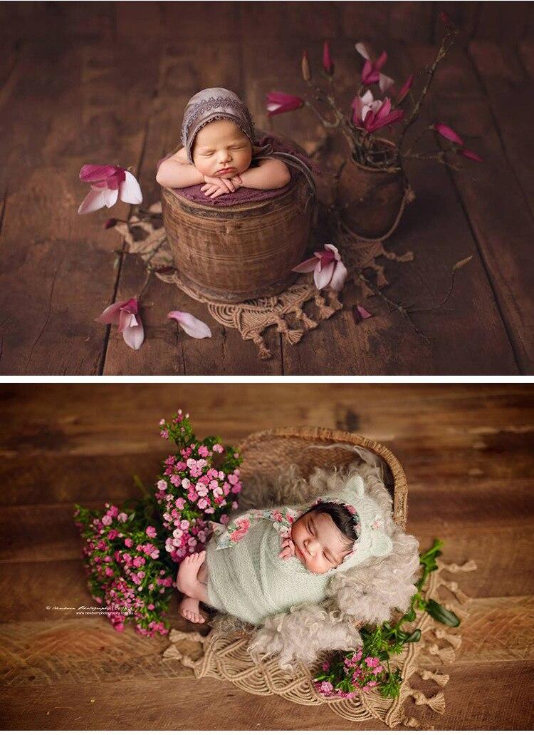 novo tecelagem corda de canhamo cobertor posando pano de fundo para fotografia recem nascido aderecos do