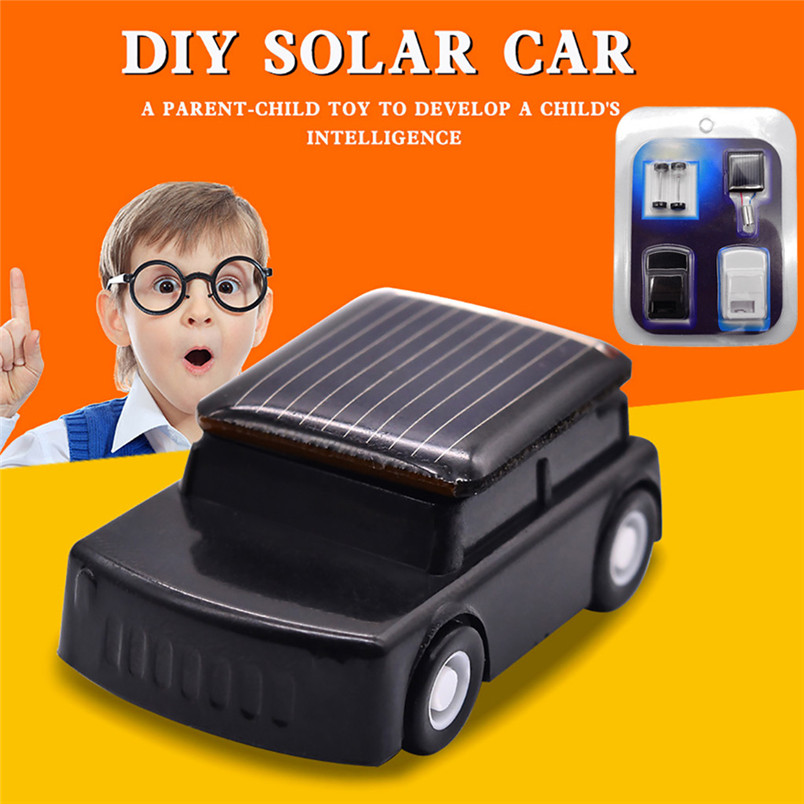 Children DIY Assemble Solar Power Car Science Educational Solar Powered ToyEnvironmental Toys 30AG02
