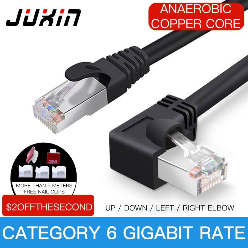 Ethernet-кабель Cat6 RJ45, прямой угол, сетевой UTP-кабель, патч-корд 90 градусов, Cat6a Lan-кабели для ноутбука, маршрутизатора, ТВ-приставки RJ45