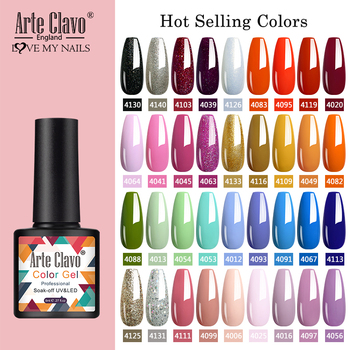 Arte Clavo 8ml Gel Nail Polish Nails Shiny Color Soak Off UV Gel Varnish Semi Permanant UV Gel Nail Art Need Led Lamp Top Coat 1