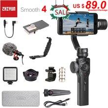 Zhiyun Smooth 4 3 Axes Poche Smartphone Stabilisateur de Cardan pour iPhone 11 Pro XS XR X 8plus 8 Samsung S10 S9 S8 & Caméra Daction