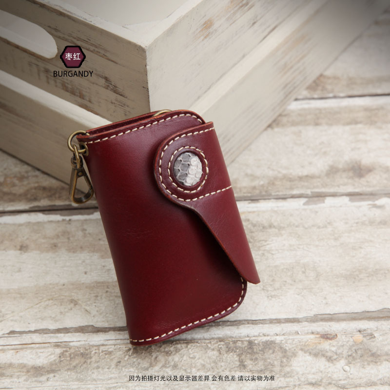 unisex couro genuíno artesanal chaveiro lazer cor