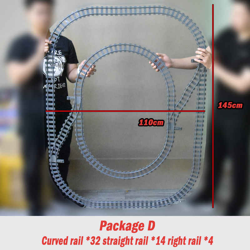 City Trains Flexible Tracks Forked Straight Curved Rails Switch Building Block Bricks technic Creator legoinglys Toys for kid