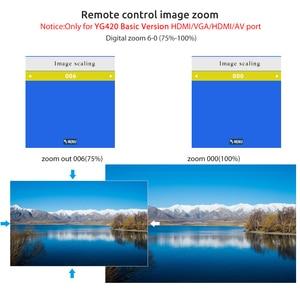 Image 4 - AAO YG420 Mini LED 720 P projektör yerli 1280x720 taşınabilir kablosuz WiFi çoklu ekran Video Beamer YG421 3D g500 1080P projektör