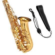 Saxophone Leather Strap Black Tenor Tenor Tenor Universal Saxophone Strap Neck Strap Musical Instrument Accessories цена 2017