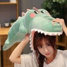 Funny Soft Simulation Crocodile Plush Toy Cartoon Animal Alligator Stuffed Doll Bed Sleeping Pillow Cushion Friend Birthday Gift цена в Москве и Питере