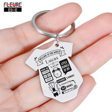 Baby Personalized Key Chain Gift New Born Baby Souvenir Jewelry Baby Siamese Shape First Mother's Father's Day Gift
