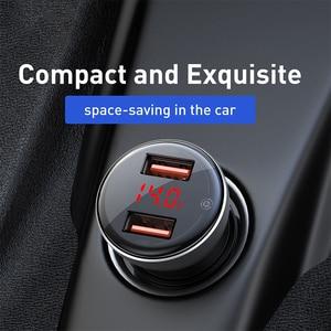 Image 5 - Baseus 45 ワットメタルデュアル usb 急速充電 4.0 3.0 車の充電器 scp QC4.0 QC3.0 高速車の usb 充電器 iphone xiaomi 携帯電話