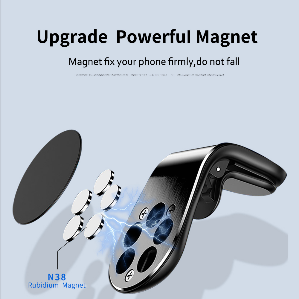 Kaleno Metal Magnetic Car Phone Holder Stand Car Air Vent Magnet Stand For iphone Samsung Xiaomi in Car GPS Smartphone  Holder 2