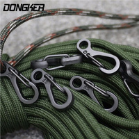 10Pcs/Lot Outdoor Mini Aluminium Alloy Hang Buckle Survival EDC Gear Carabiner Key Chain Clip Quickdraw Key Chain Travel Tools-in Outdoor-Werkzeuge aus Sport und Unterhaltung bei