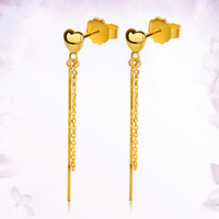 18K Pure Gold Earring Real AU750 Solid Gold Earrings Nice Good Hollow Ball Tassel Upscale Trendy Fine Jewelry Hot Sell New 2020