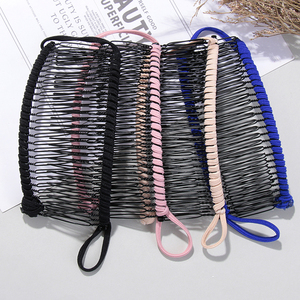 New Vintage Unisex Lazy Banana Combs Stretchable Metal Hairclip Head Massage Stretchable Comb Gift Hair Styling Accessories Tool