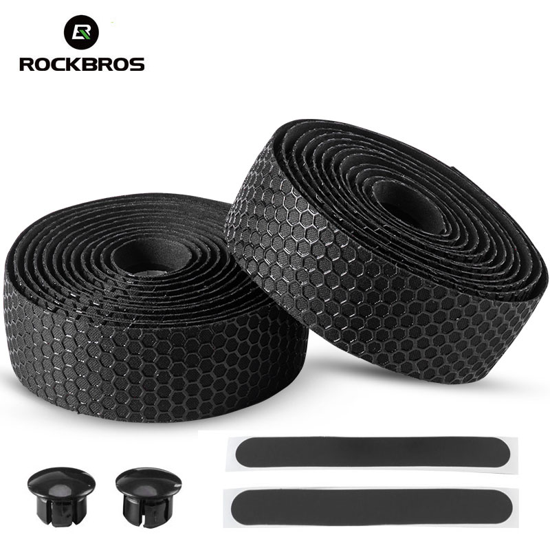 ROCKBROS Anti-Slip Road Bike Handlebar Grip Tape Soft EVA Bicycle Handle Bar Strap Wrap Outdoor Cycling Handle Belt For Bike