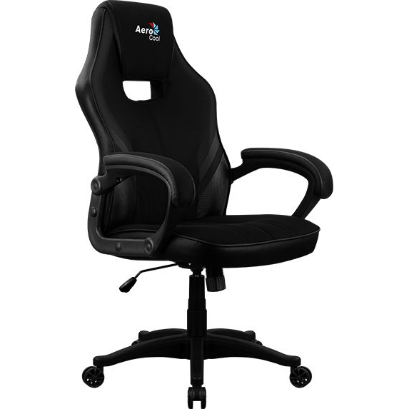 Game chair aerocool Aero 2alpha, on wheels, fabric breathable, black, (2 Alpha Black)        АлиЭкспресс