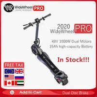 2020 New WideWheel PRO Electric Kickscooter 1000W TWO Wheel Skateboard Dual Motor Disc Brake Hoverboard Mercane Smart Wheel