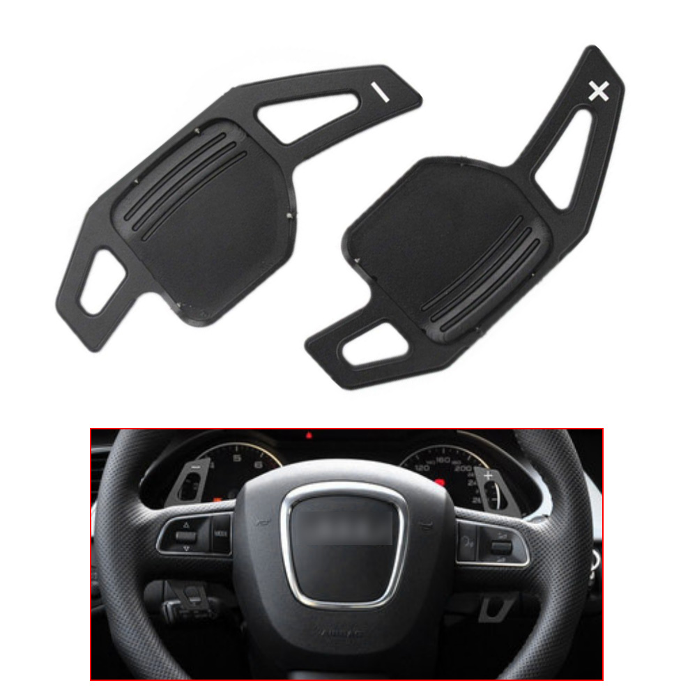 Yubao Black Car Steering Wheel Shift Paddle Shifter Fit For Audi A3 A4 A4L A5 A6 A7 A8 Q3 Q5 Q7 TT S3 R8 Car Replacement Parts