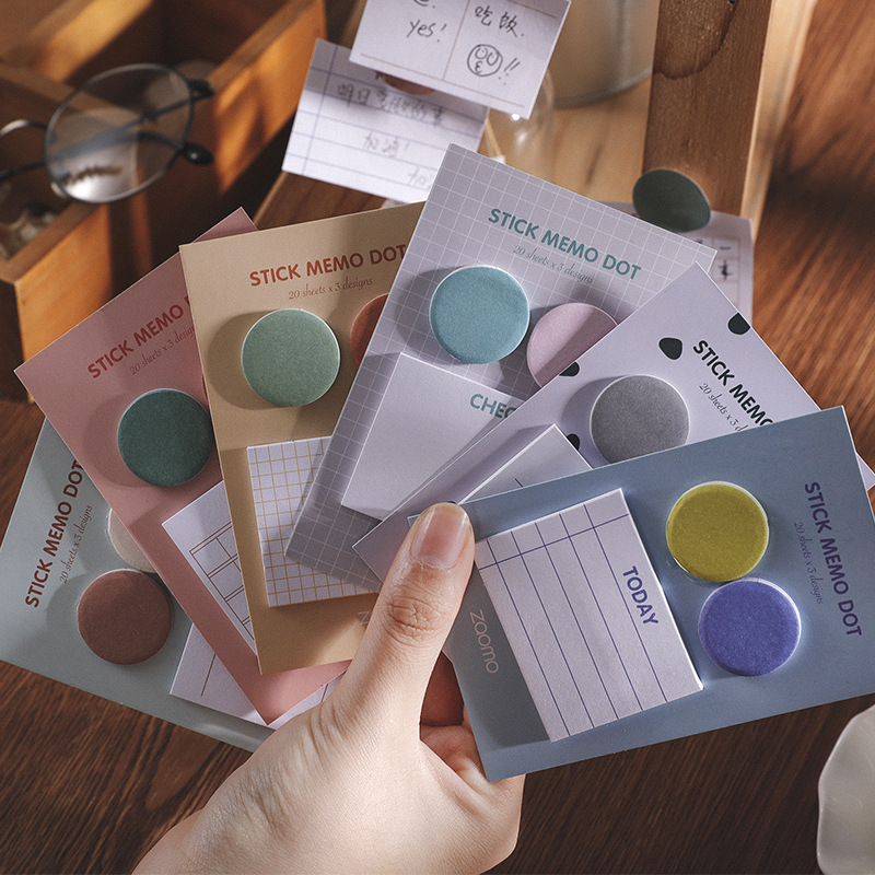 Fresh Simple Palette Sticky Notes Memo Pad Planner Sticker To Do List Office Decor Memo Sheets Sticker Marker Stationery