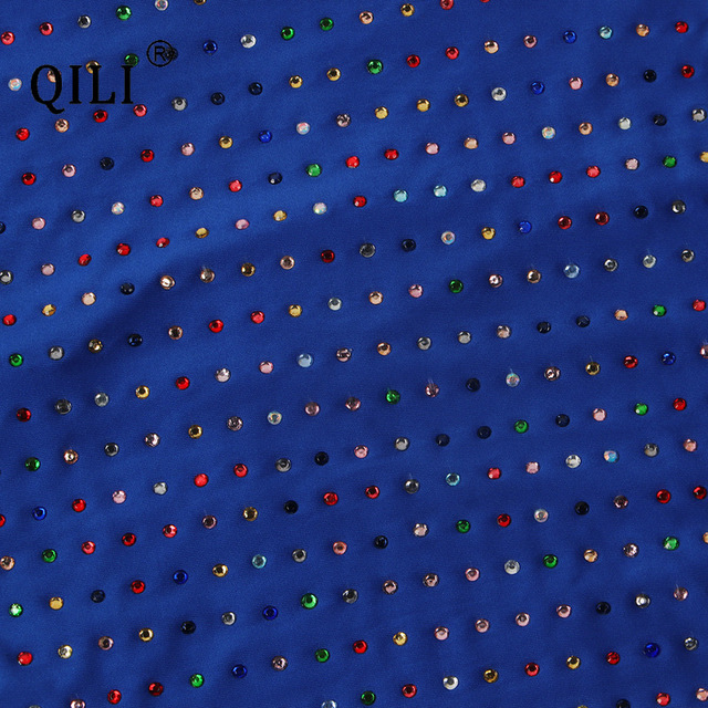 qili womens diamonds dress black blue sexy apaghetti strap pencil фотография