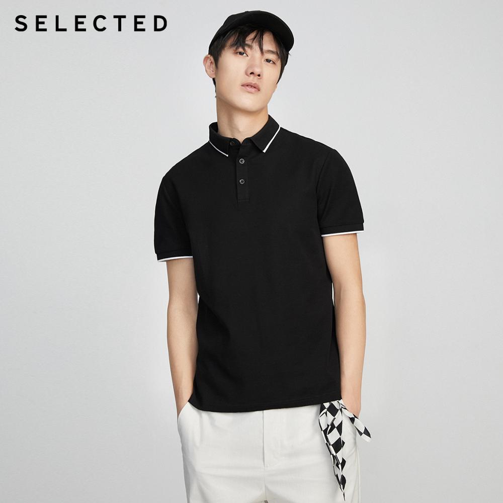 SELECTED Men's Summer Turn-down Collar Short-sleeved Polo S|419206503