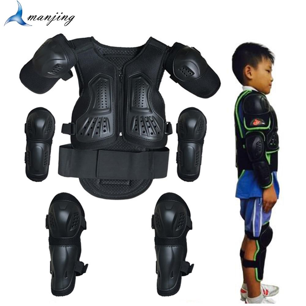 Для детей ростом от 1-1,7 м для мальчиков и девочек подростков детские дети защита тела броня для мотокросса; Детский костюм с жилеткой Катани...