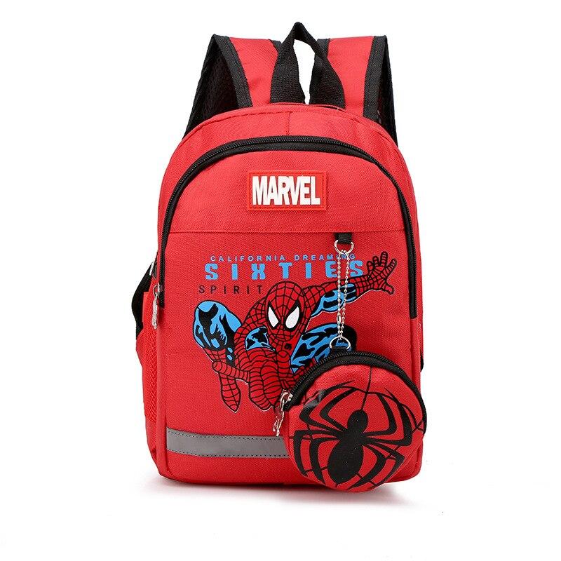 Cute Spider Backpack Boys School Bags Zipper Kid Captain America School Bag Children Knapsack School Bag For Girl Mochila