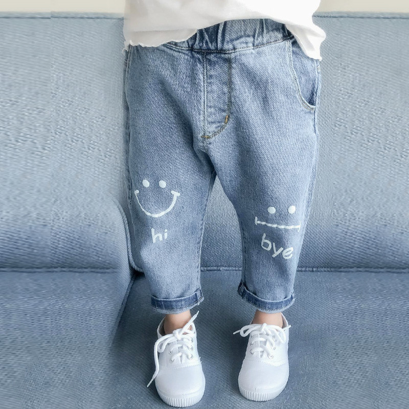 Boys Kids Baby Toddler Denim Jeans Stretch Cotton Trousers Elasticated Waistband