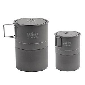 Image 4 - TOAKS MAXI titane Moka cuisinière cuisinière expresso cafetière ultralégère en plein air pratique Moka Pot