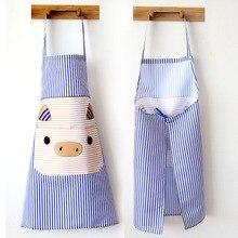 2 PCs Household Kitchen Apron Dustproof and Oil-Proof Korean-Style Cartoon Fashion Cute