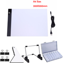 Pintura de diamantes 5D DIY, tamaño A4, 20x30cm, herramienta de tablero de copia LED, bordado de diamantes, luz con mosaico, accesorios de tableta