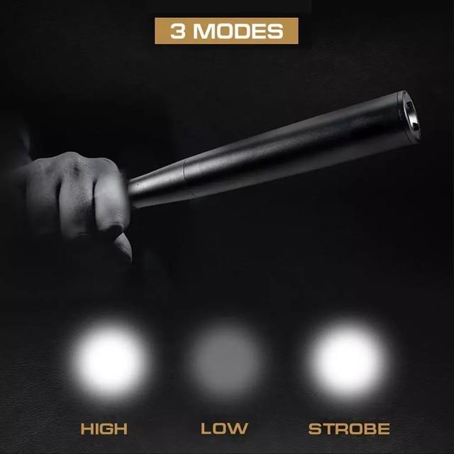 3000 lumens Baseball Bat LED Flashlight Super Bright Baton aluminium alloy Torch for Emergency and Self Defense 2