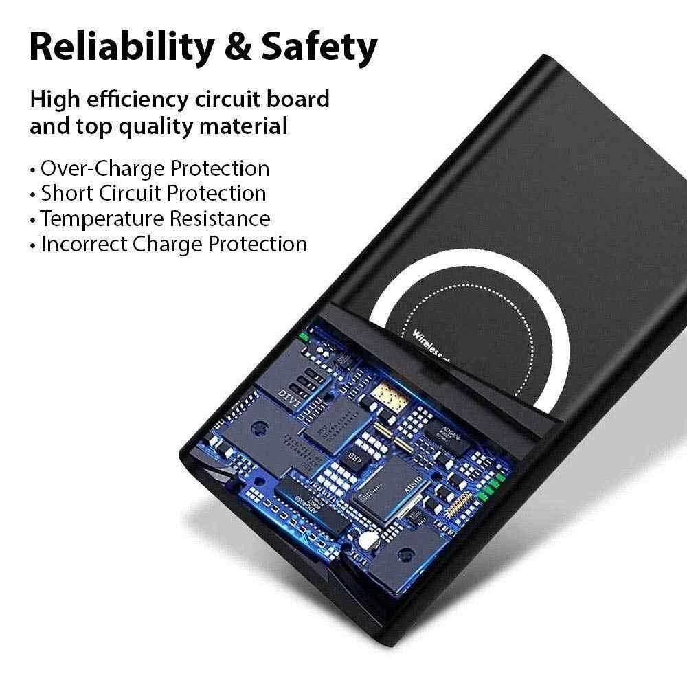 حار 30000mAh بنك الطاقة اللاسلكية آيفون XS ماكس XR X سامسونج S9 S8 Powerbank 20000 mAh تشى شاحن لاسلكي شحن Powerbank