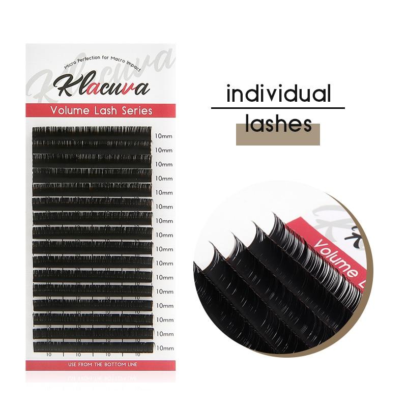 Klacuva 16lines Mink Eyelash Extensions 0.03-0.10 Professional Individual Eyelashes Russian Volume Lash Extension Makeup Lashes