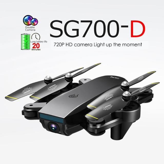 SG700-Dual Camera WiFi FPV RC Drone 20 min Flying Folding 4K 1080P 720P Quadcopter Optical Flow Lens APP Watching Helicopter
