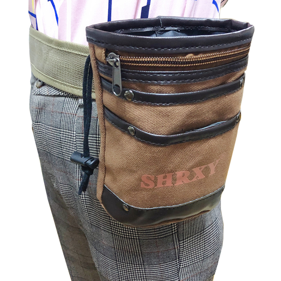 Metal Detector Drawstring Digger's Pouch And Trowel Combo Recycling Bag Pick Up Small Tool Bag For Metal Detecting