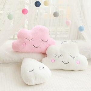 Image 2 - New Stuffed Cloud Moon Star Raindrop Plush Pillow Soft Cushion Cloud Stuffed Plush Toys For Children Baby Kids Pillow Girl Gift