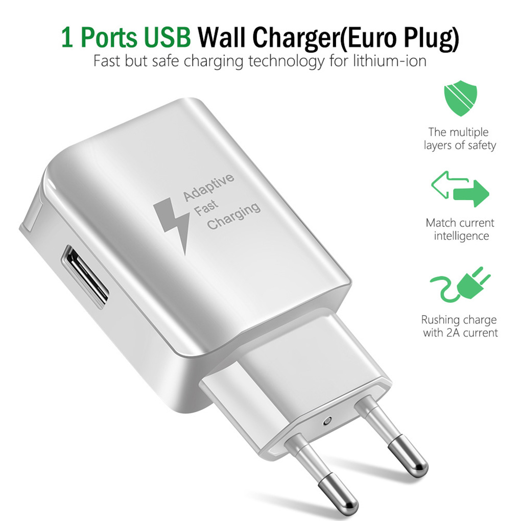 USB Charger 5V 2A Phone AC Travel Wall Fast Charging Power Adapter For IPhone For Android EU/US Plug