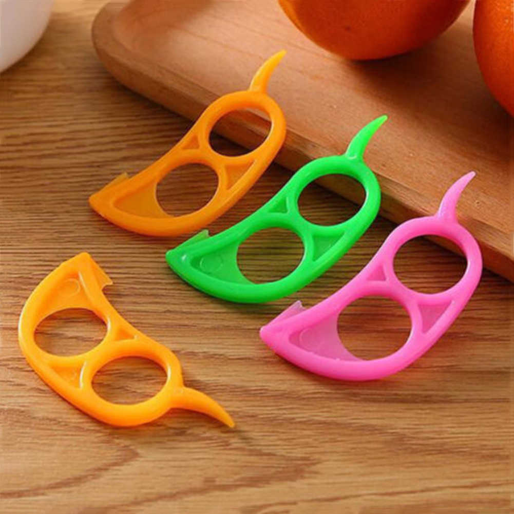 Plástico laranja peelers zesters limão toranja frutas slicer abridor cortador rapidamente descascando cozinha ferramenta gadgets