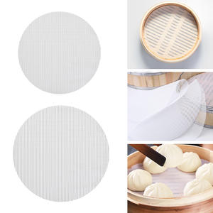Steaming Basket Mat Air Fryer Steamer Liners Premium Perforated Wood Pulp Papers Non-Stick Baking Cooking Tools Accessories