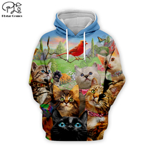Men 3D Funny cat Print halloween Hoodie women cartoon animal Sweatshirt Harajuku zipper coat unisex pullover beach tshirt vest cartoon cat print sweatshirt
