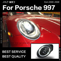 AKD Car Styling for Porsche 997 Headlights 2005 2008 911 LED Headlight DRL High Low Beam Xenon Head Lamp Accessories
