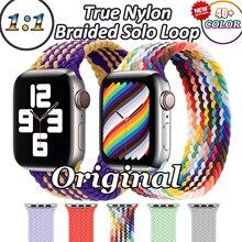 Nylon Braided Solo Loop for Apple Watch 6 5 4 SE Nylon Strap for IWatch Series 3 2 1 For Apple Watch Band 44mm 38mm 42mm 40mm OG