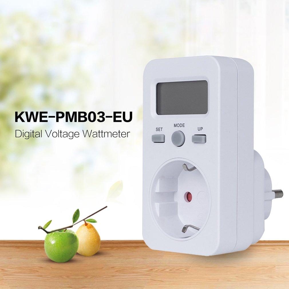 KWE-PMB03 enchufe voltaje Digital wattmetro consumo de energía Watt medidor de energía AC electricidad analizador Monitor Proyector de puerta led personalizado, luces de logotipo de Charco, imagen hd, proyección gobo de 20 vatios, rotación, lámpara de logotipo impermeable al aire libre